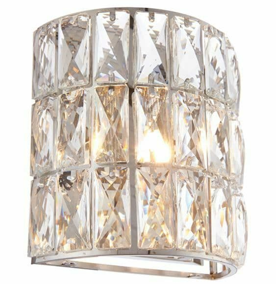 Deluxe Verina chrome plate and clear glass dimmable Wall Light